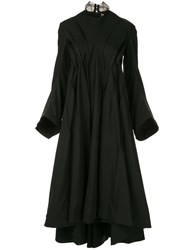 Aganovich Flared Long Sleeved Dress Black