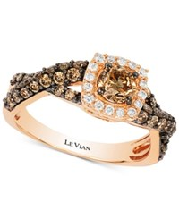 Le Vian Chocolatier Diamond Twist Ring 1 1 10 Ct. T.W. In 14K Rose Gold