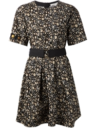 Marc Jacobs Beaded Sleeve Floral Dress Black