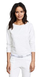 Calvin Klein Underwear Modern Cotton Sweatshirt Snow Heather Neon