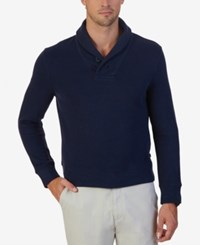 Nautica Men's Shawl Collar Sweater Navy