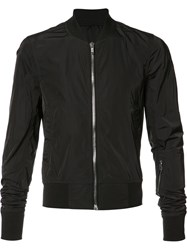 Rick Owens Cropped Bomber Jacket Black