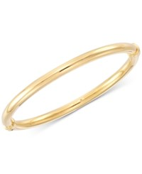 Signature Gold Polished Hinged Bangle Bracelet Created For Macy's Gold