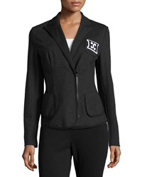 Escada Double E Logo Zip Blazer Women's
