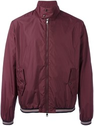 Moncler Contrast Trim Lightweight Jacket Pink Purple