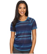 Brooks Ghost Short Sleeve Top River Scape Women's Short Sleeve Pullover Black