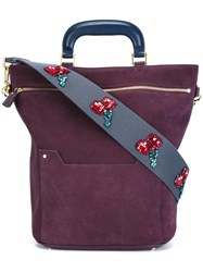 Anya Hindmarch Cherry Motif Detailing Tote Pink Purple