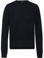 Prada Ribbed Crew Neck Sweater Black