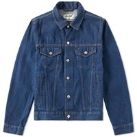 Acne Studios Beat Denim Jacket Blue