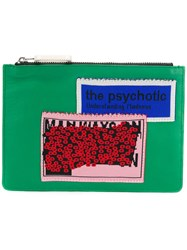 J.W.Anderson Jw Anderson Patch Clutch Bag Green