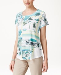 Styleandco. Style And Co. Santorini Printed T Shirt Only At Macy's Sunny Santorini