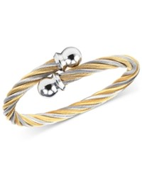 Charriol Women's Celtic Two Tone Pvd Stainless Steel Cable Bangle Bracelet Two Tone