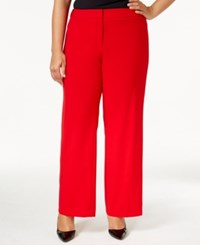 Calvin Klein Plus Size Dress Pants Red