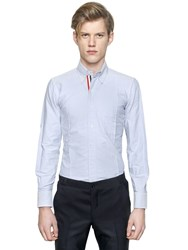 Thom Browne Cotton Oxford Shirt W Grosgrain Detail