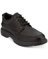 Dockers Men's Overton Moc Toe Leather Oxfords Men's Shoes Black