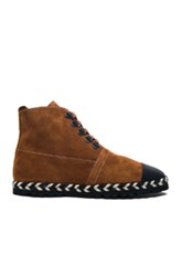 J.W.Anderson Jw Anderson Suede Hi Top Espadrille Boots In Brown