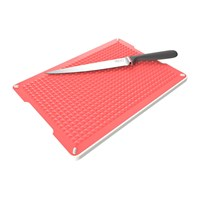 Venn Chopping Board And Tray Set Red