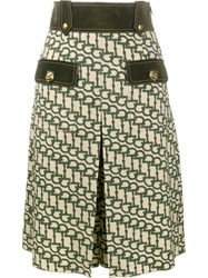 Gucci Horsebit Print Knee Length Shorts Green