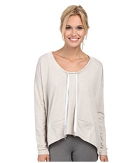 Lole Bala Top Morel Heather Women's Long Sleeve Pullover Khaki
