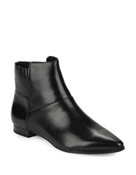Calvin Klein Eunice Leather Ankle Boots Black