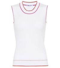 Agnona Sleeveless Silk And Cotton Top White
