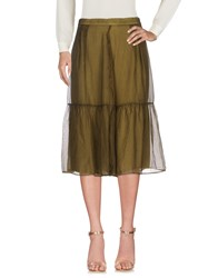 Brand Unique 3 4 Length Skirts Military Green