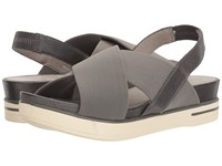 Eileen Fisher Spa Carbon Stretch Mesh Metallic Fabric Women's Sandals Gray