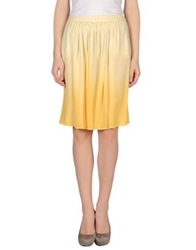 Tonello Knee Length Skirts Light Yellow