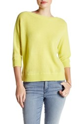 Kinross Cashmere Dolman Knit Sweater Yellow