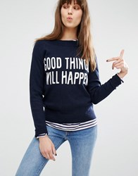Levi's Good Things Will Happen Slogan Jumper Crew Sw Emb Blue
