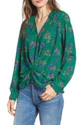 Heartloom Camille Floral Blouse Emerald