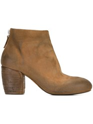Marsell Zipped Ankle Boots Brown