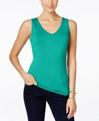Inc International Concepts V Neck Tank Top Only At Macy's Teal Glow