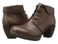 Wolky Jacquerie Cognac Mighty Greased Women's Lace Up Boots Brown