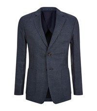 Private White Hopsack Weave Linen Jacket Male Navy