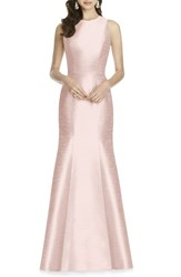 Alfred Sung Women's Dupioni Trumpet Gown Pearl Pink