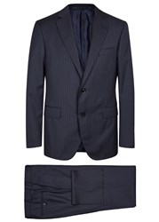 Pal Zileri Navy Pinstriped Wool Travel Suit