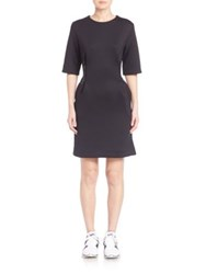 Y 3 Zipper Accented Shift Dress Black