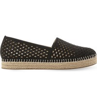 Steve Madden Prettty Laser Cut Espadrilles Black Synthetic