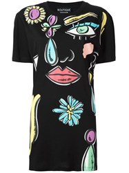 Boutique Moschino Abstract Print T Shirt Black