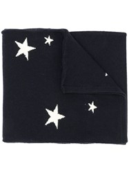 Chinti And Parker Stars Knitted Scarf Blue