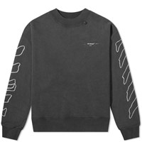 Off White Abstract Arrows Oversized Crew Sweat Black