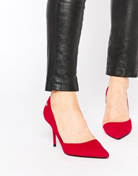 Blink Cherise Cut Out Point Court Shoes Red