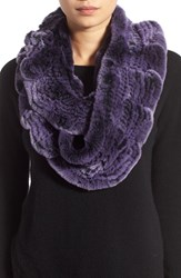 Women's Linda Richards Genuine Rabbit Fur Ruffle Infinity Scarf