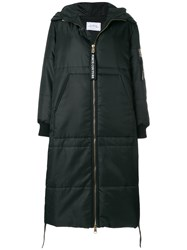 Forte Couture Oversized Padded Coat Cotton Polyamide Polyester Viscose Xs Black