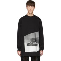 Rick Owens Black Jumbo Long Sleeve T Shirt
