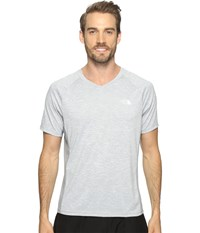 The North Face Ambition V Neck Tnf Light Grey Heather Mid Grey Men's T Shirt Gray