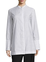 Aquilano Rimondi Long Sleeve Striped Shirt Black And White