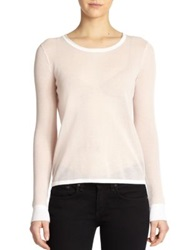 Rag And Bone Lynsey Split Back Pullover Pale Pink