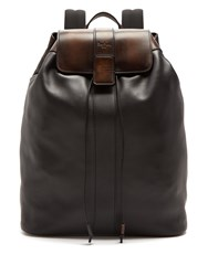 Berluti Horizon Leather Backpack Black Multi